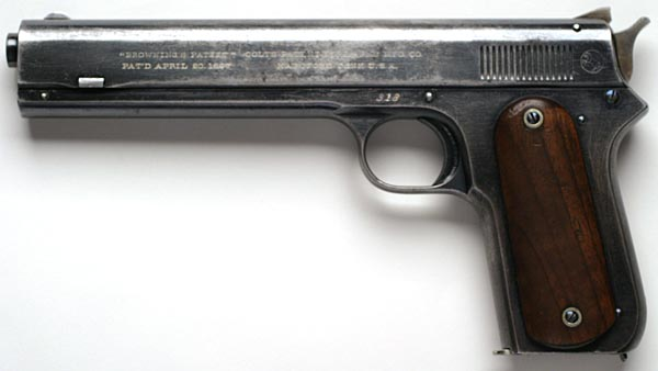 Colt Model 1900 Sight Safety .38 ACP - Left Side